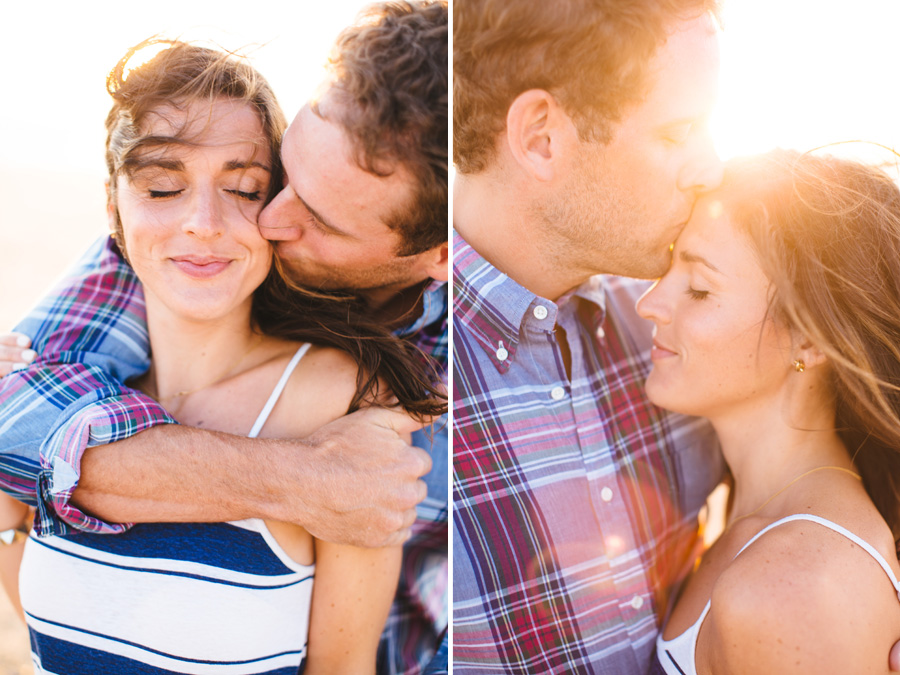 Jenny & Rob's beautiful and romantic sunset Race Point Beach engagement photography in p-town
