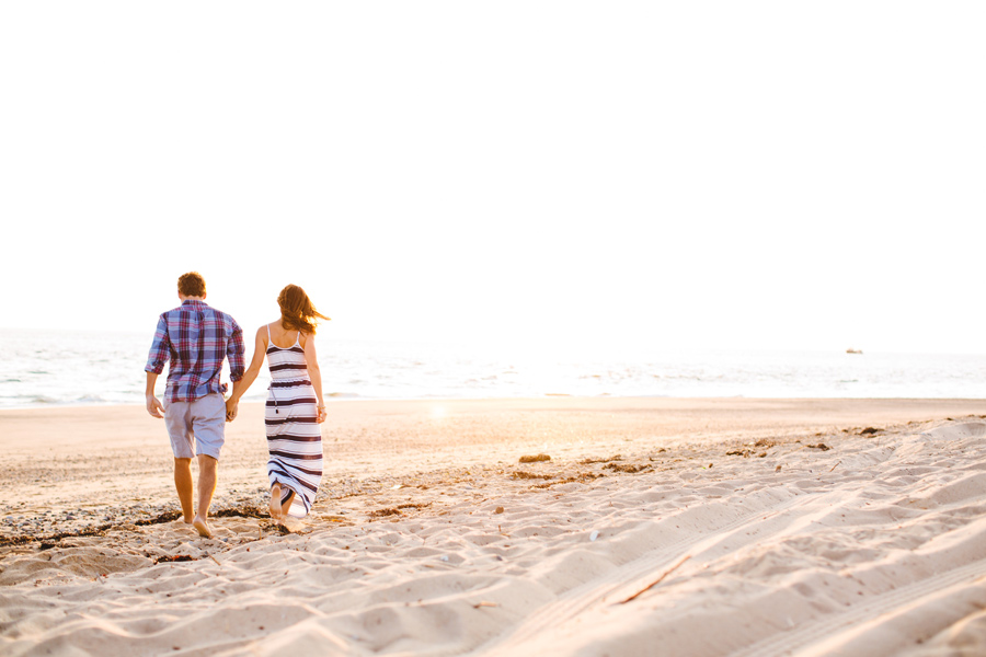 Jenny & Rob's beautiful and romantic sunset Race Point Beach engagement photography in Provincetown, MA (10)