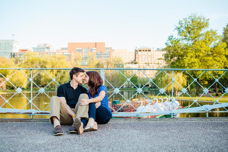 boston public gardens engagement photographer