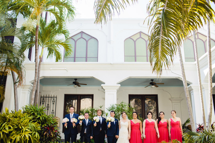 fun wedding party at a destination key west florida wedding at the hemingway house