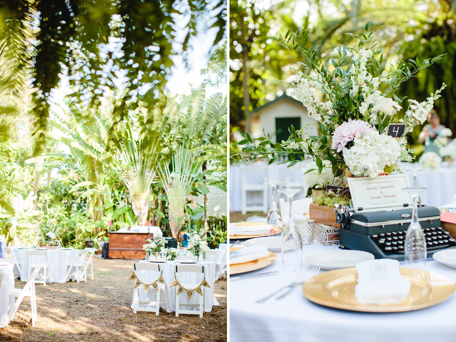 rustic chic wedding details at hemingway home key west florida, destination photographer