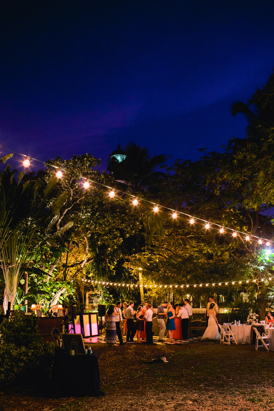 lovely and vintage inspired hemingway home key west florida destination wedding people dancing