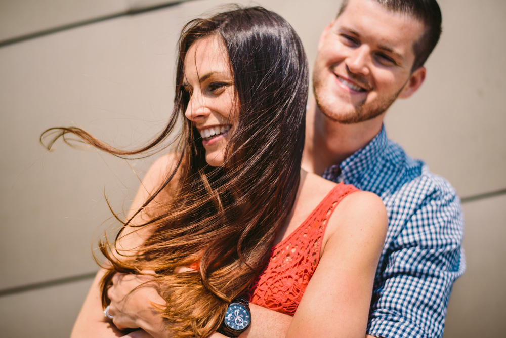 gorgeous engagement couple in boston at the waterfront