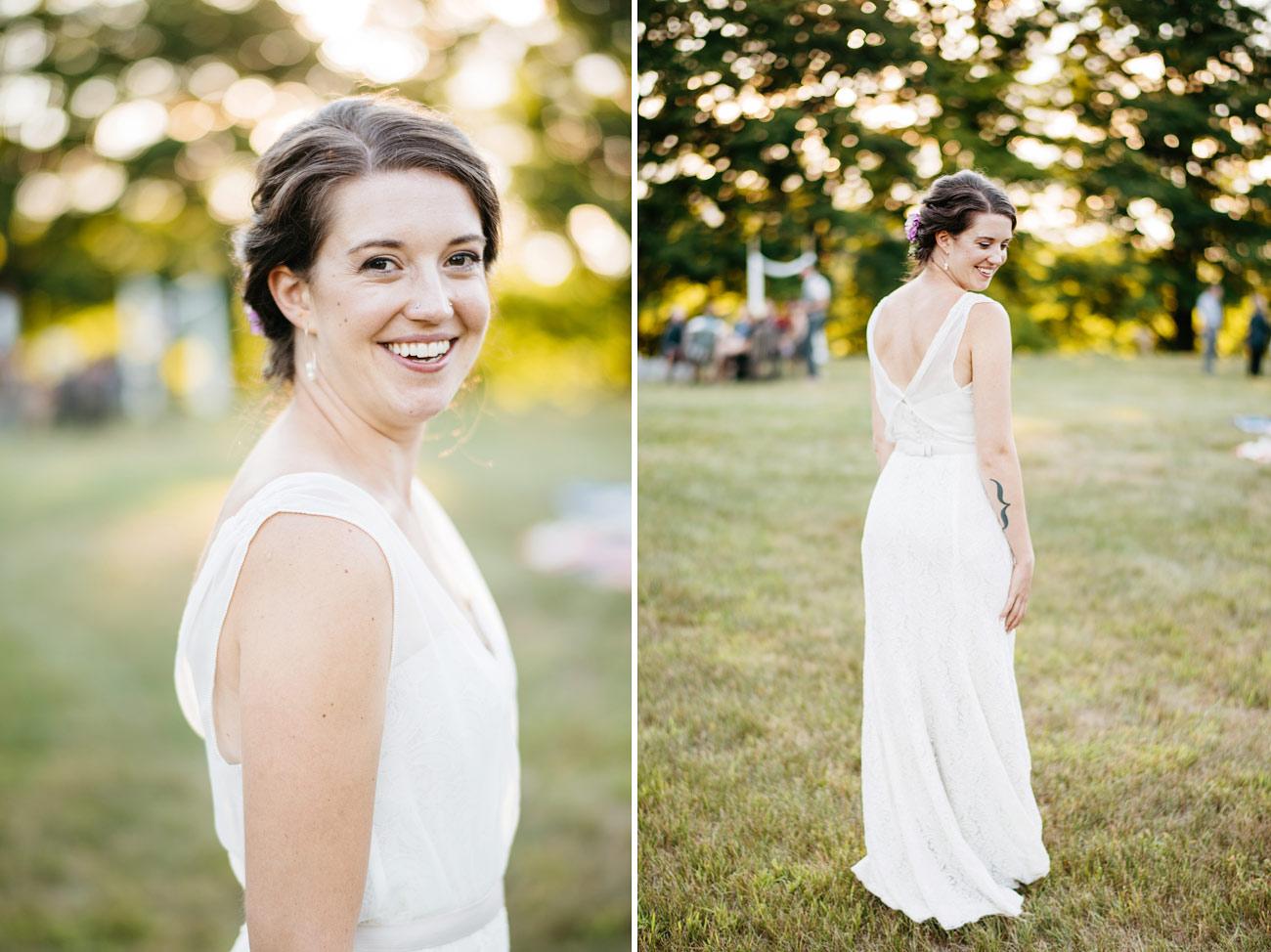 beautiful bride at a backyard wedding west mountain inn weddings  HABITAT EDUCATION CENTER & WILDLIFE SANCTUARY WEDDING  riverside farm vermont wedding