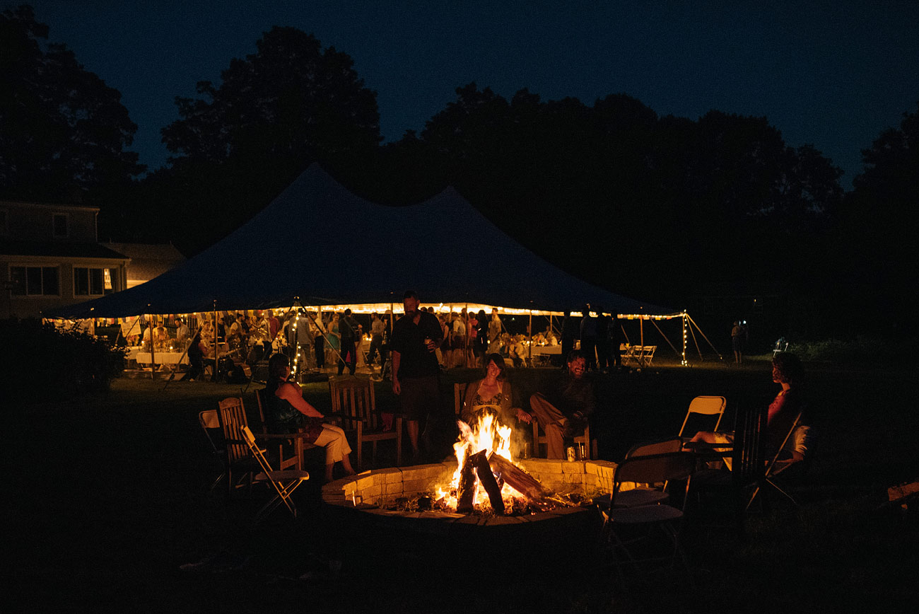 the best backyard weddings with fire pits in new england