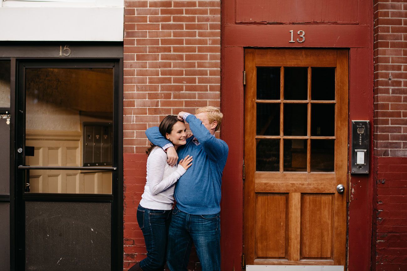 fun engagement photos in the north end boston