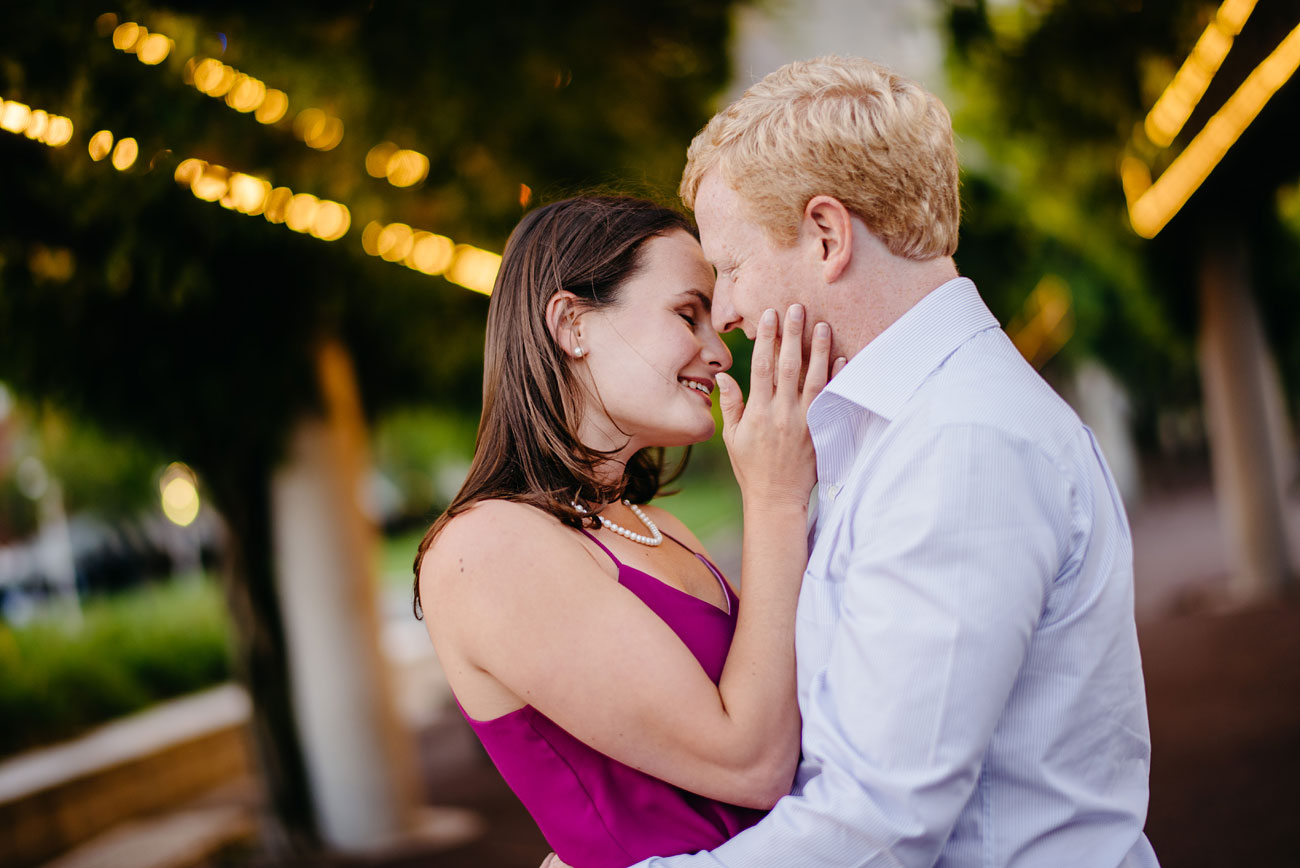 beautiful couple in a moment during their boston engagement session