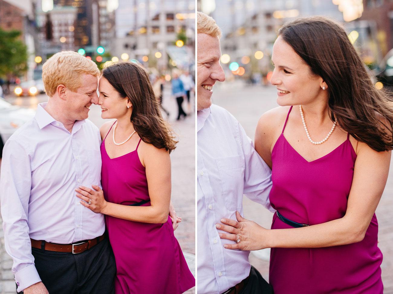 lifestyle fun couple walking to the boston harbor lifestyle photos boston photographers