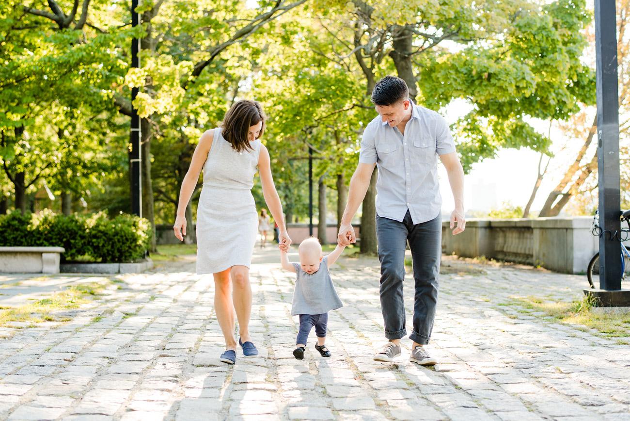 fun and lifestyle family photos in boston on the esplande