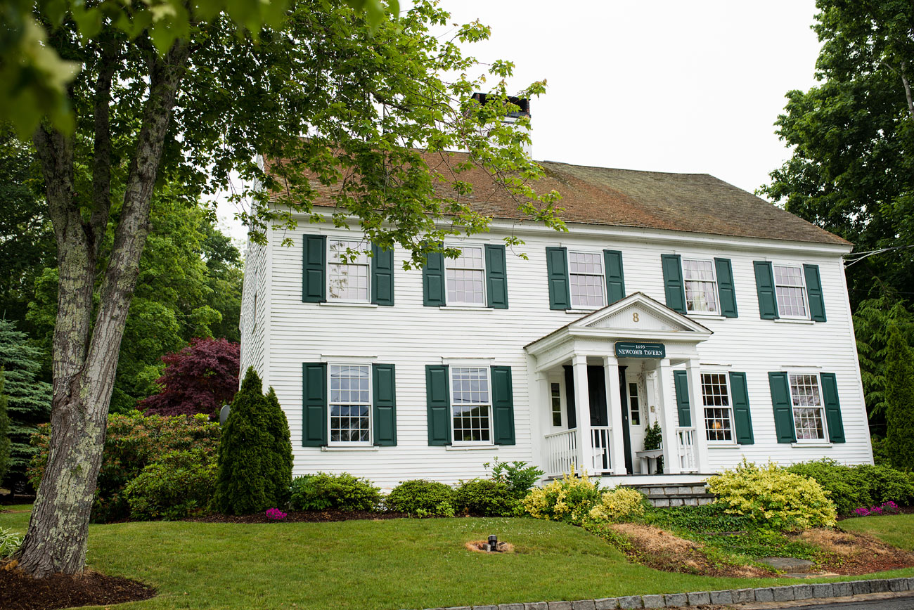lovely small house wedding elopement in sandwich, MA