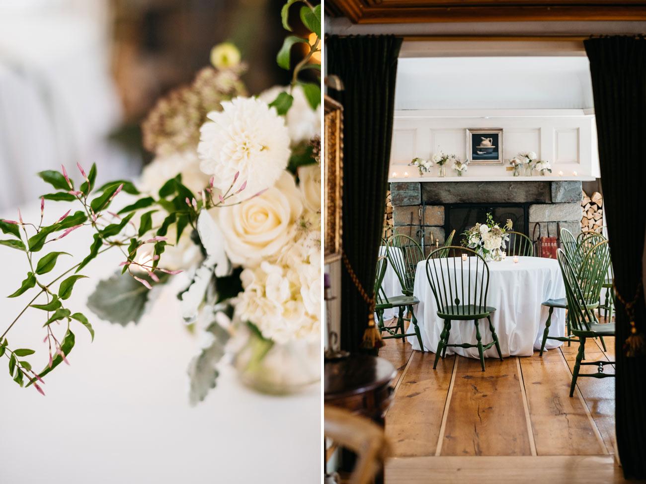 wedding venue the pitcher inn in warren vermont, indoor wedding venues
