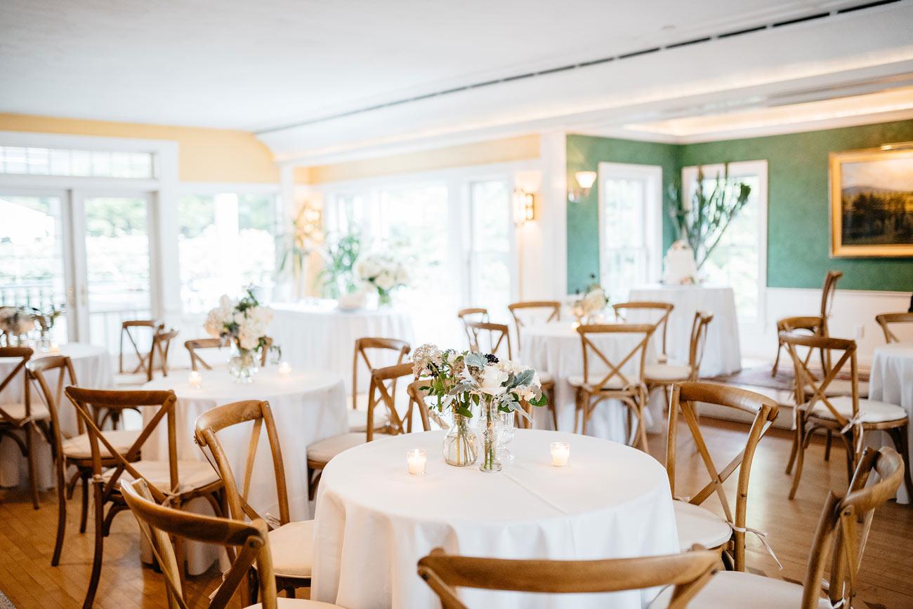 wedding venue space at the pitcher inn luxury inn wedding vermont