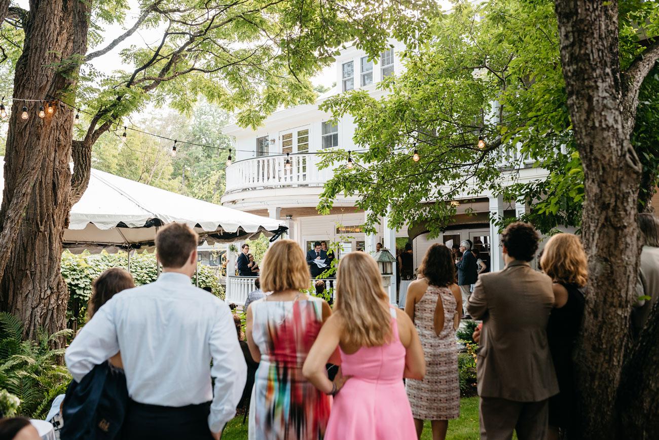 cocktail hour photos of a wedding at warren vt at the pitcher inn