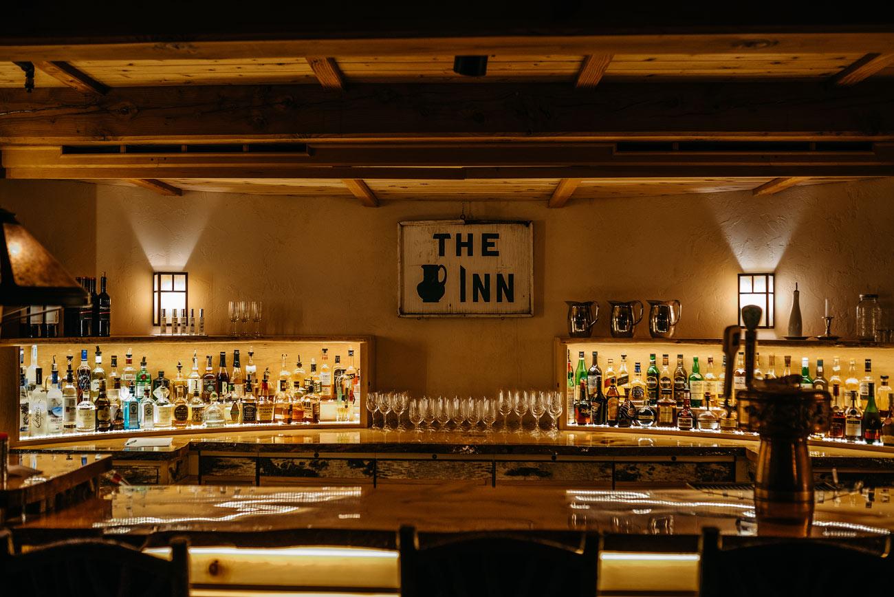 the pitcher inn bar downstairs in warren vermont