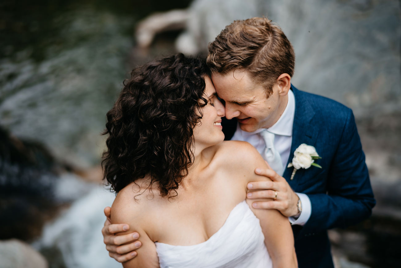 bride and groom creative portrait in vermont at the pitcher inn vermont outdoor weddings