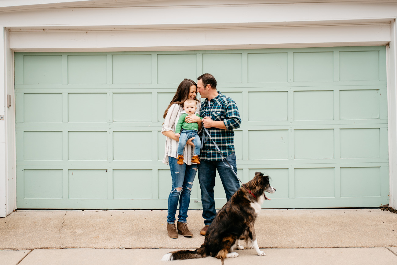 fun and lifestyle boston family photography with dog