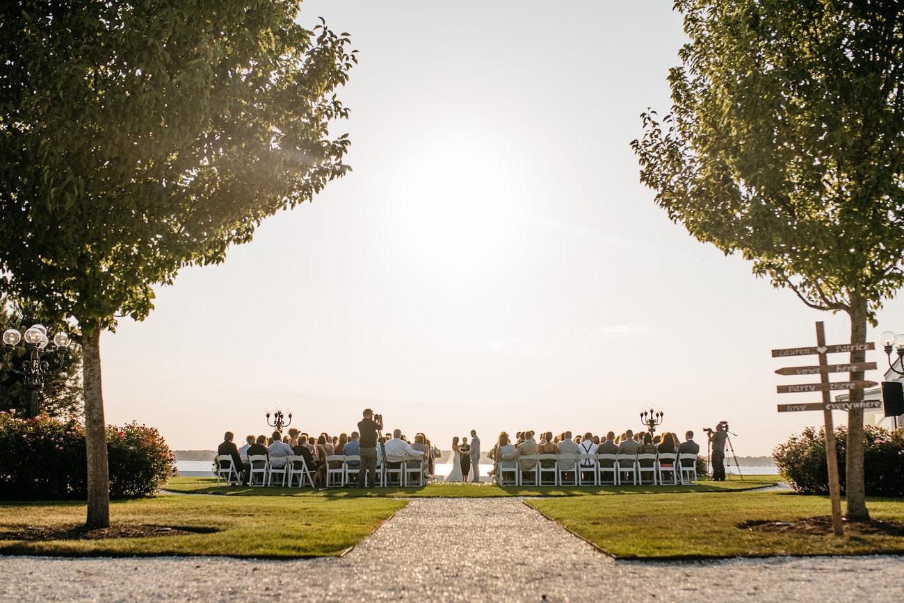 belle mer wedding venue outdoor ceremony in newport RI