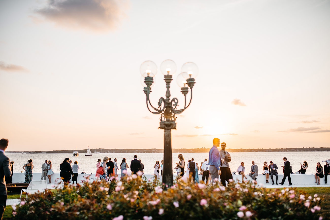 outdoor photos of belle mer at sunset in newport RI