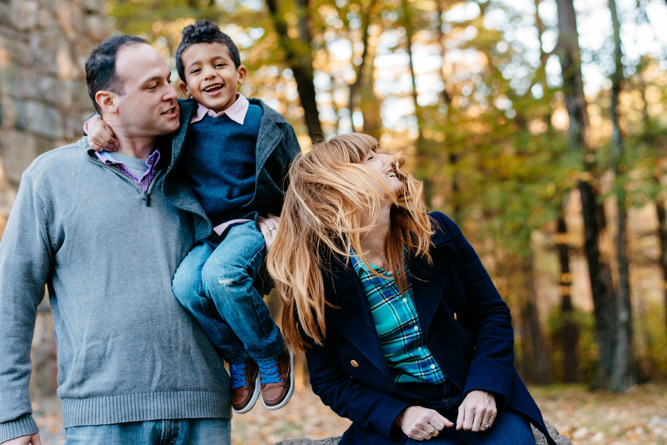 fun boston family photographer family photo session in the blue hills