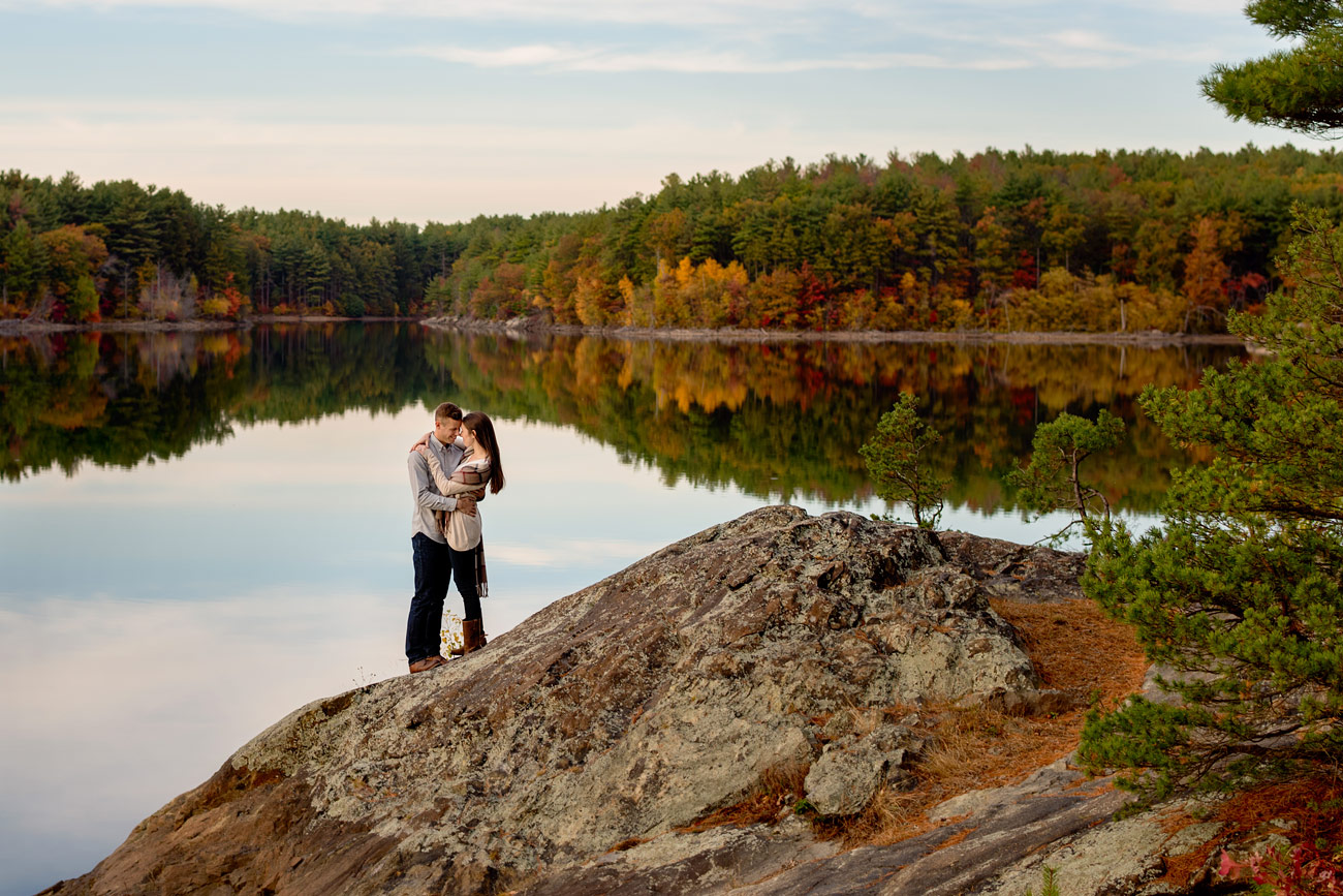 beautiful boston engagement photography and inspiration boston engagement sessions new england landscape  hiking in new england