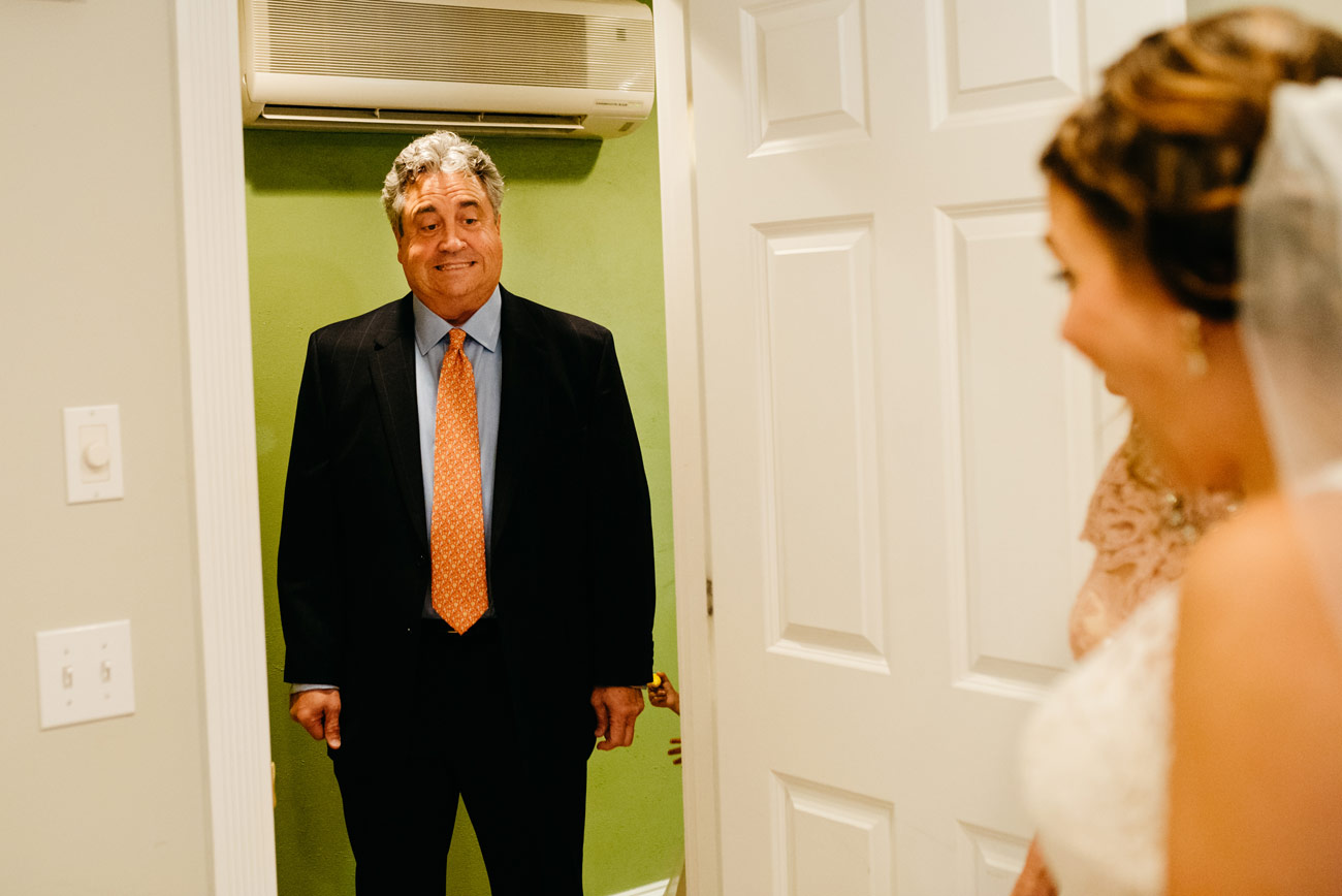 maine wedding photographers awesome photos first look with father of bride