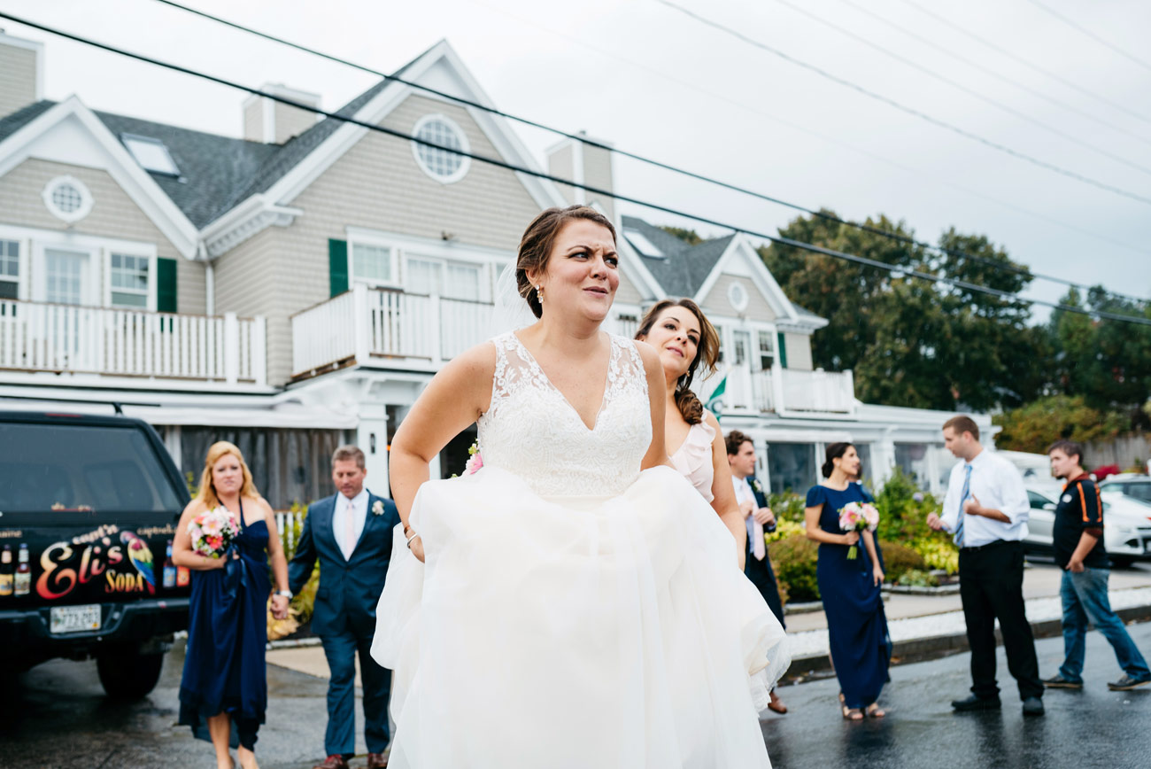 bride at peaks island inn wedding photography