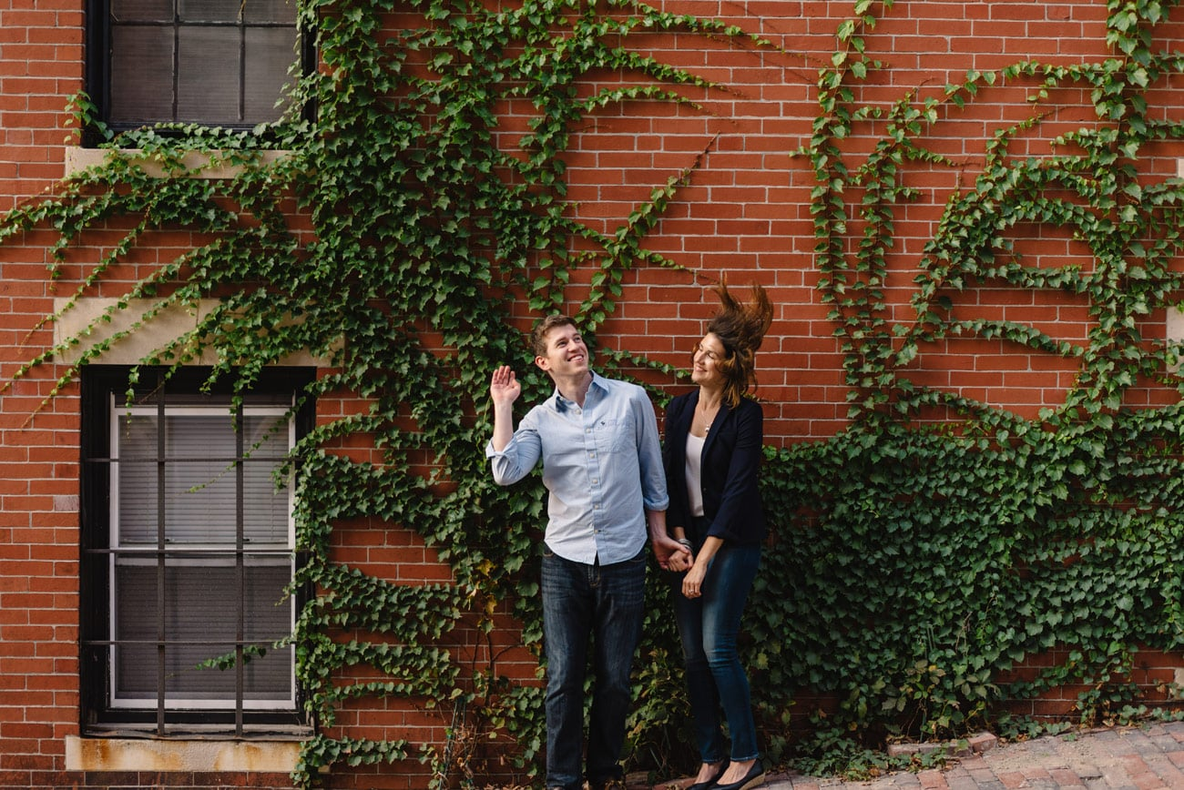 how to have a fun boston downtown engagement session