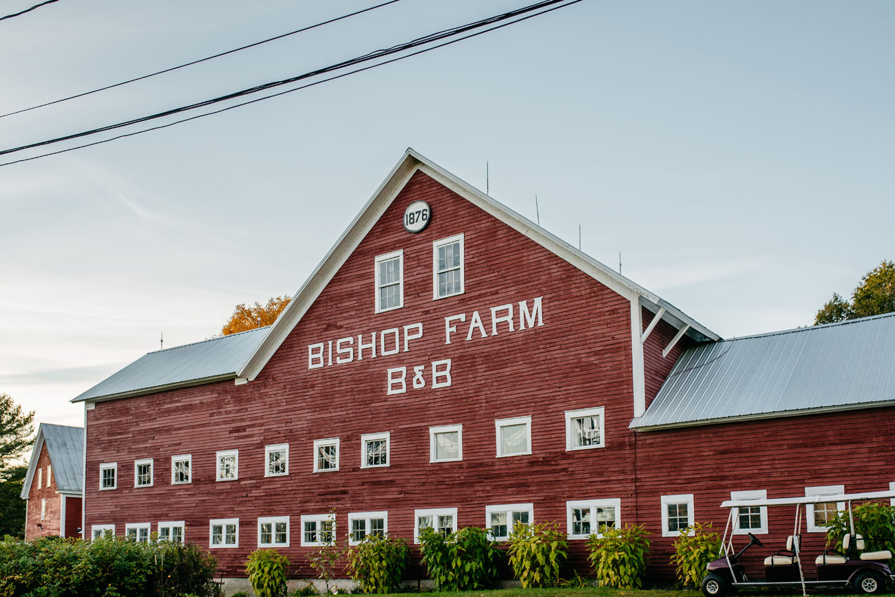 rustic barn wedding venue in new hampshire and new england bishop farm