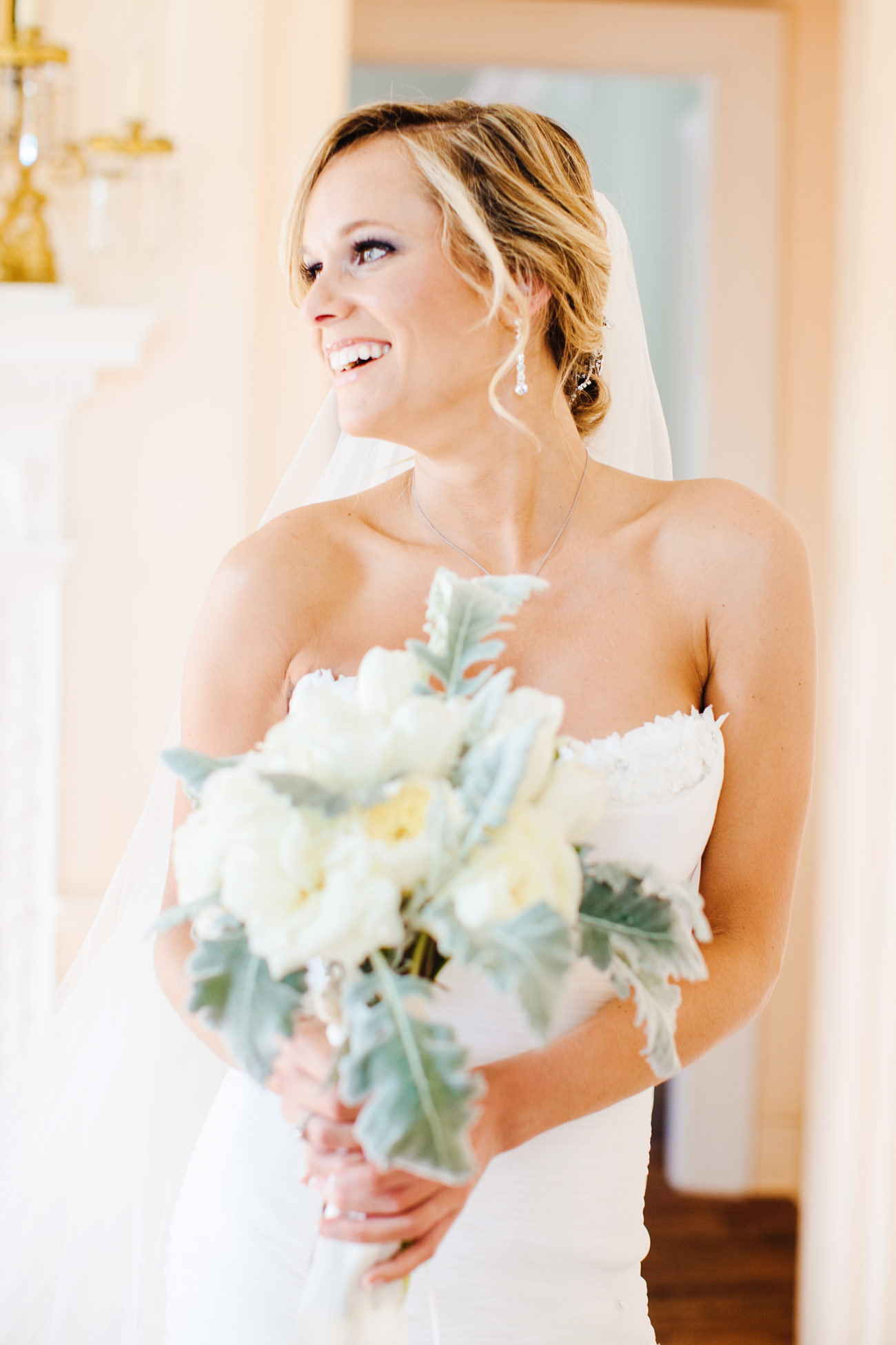 beautiful bride getting married at the lowndes grove wedding venue in charleston