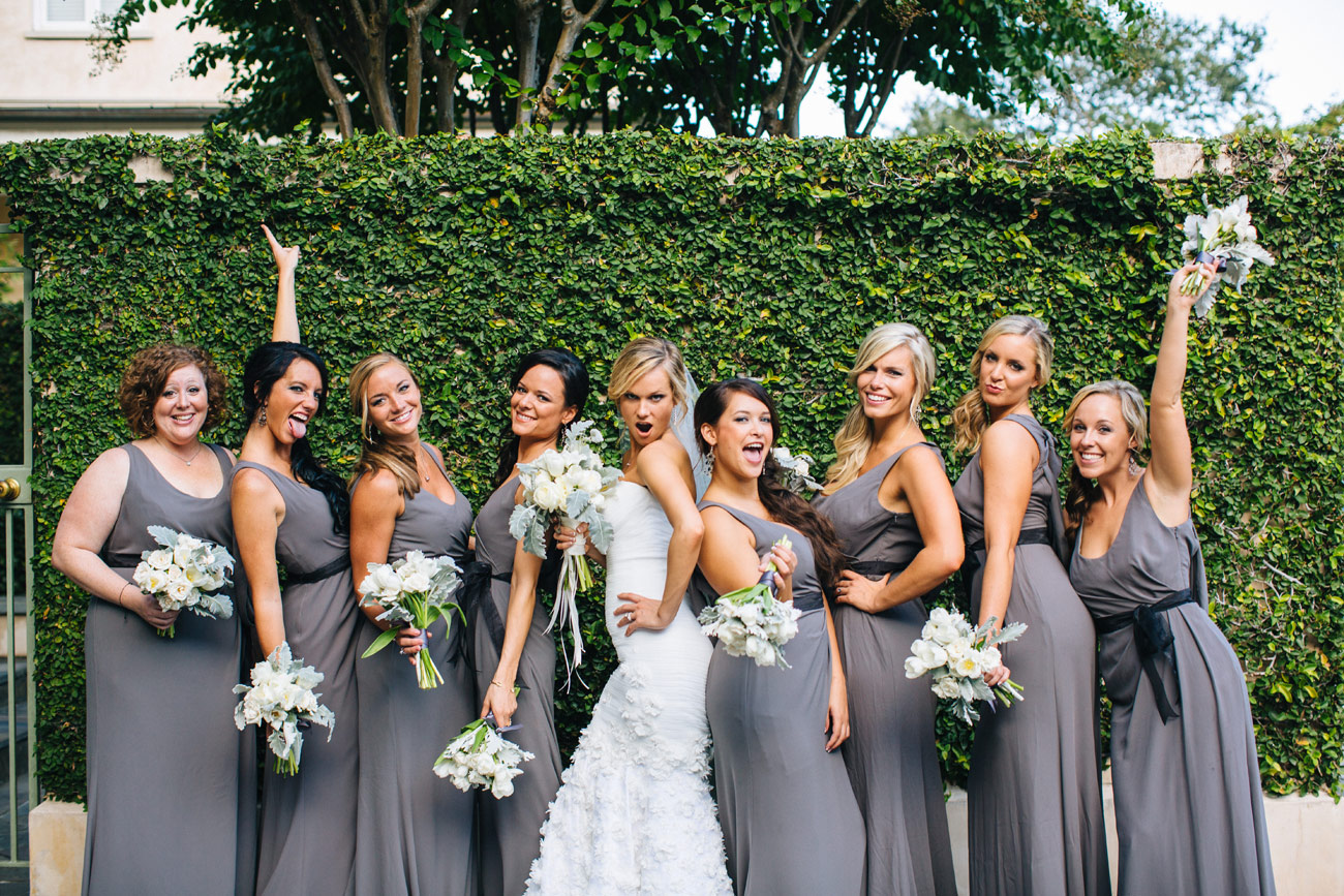 fun wedding bridal party at a destination wedding in charleston, SC