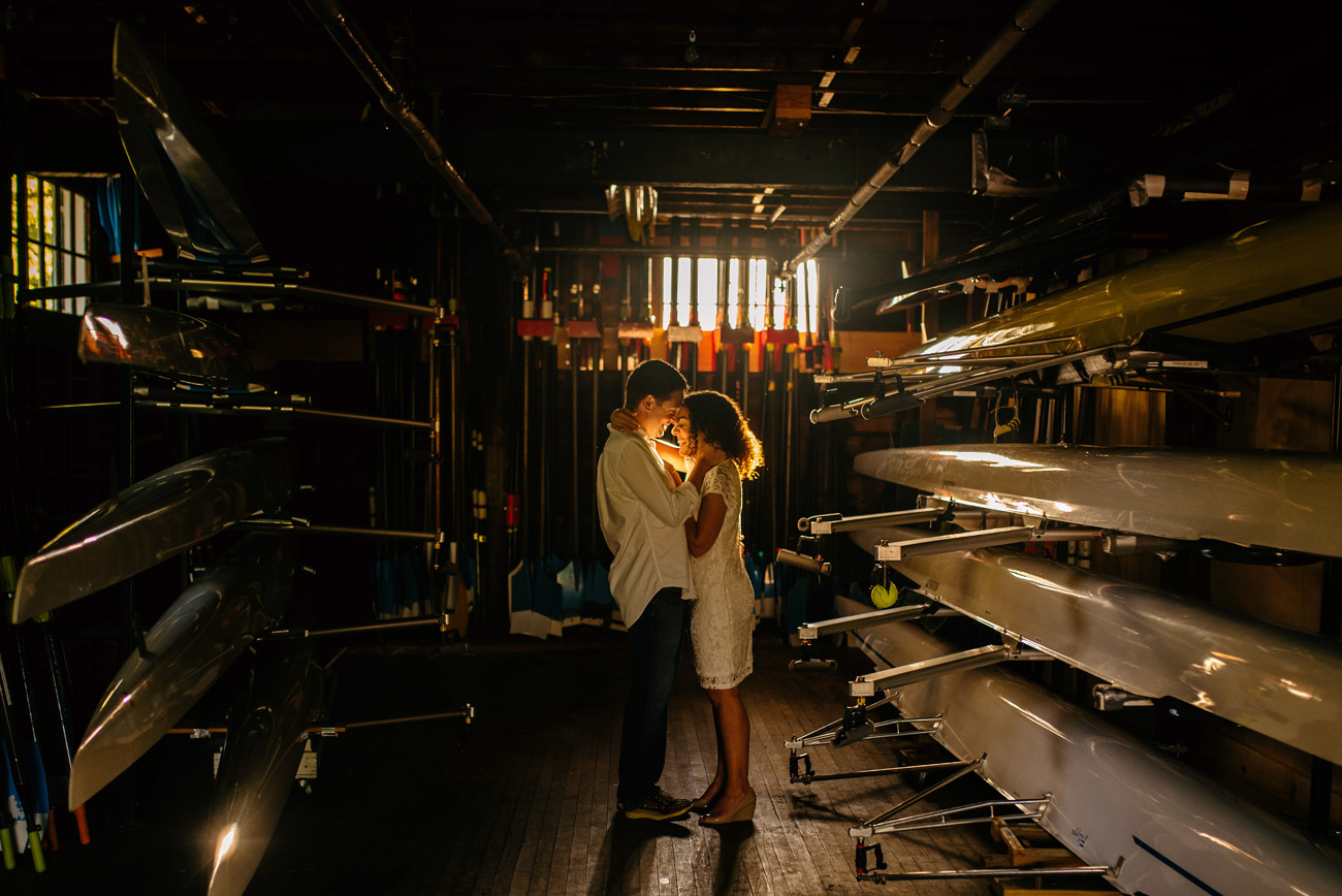 dark and beautiful cambridge boat house portraits charles river engagement session