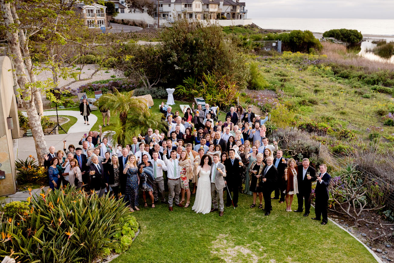 group photo of entire wedding at levyland - wedding inspiration in california, socal weddings