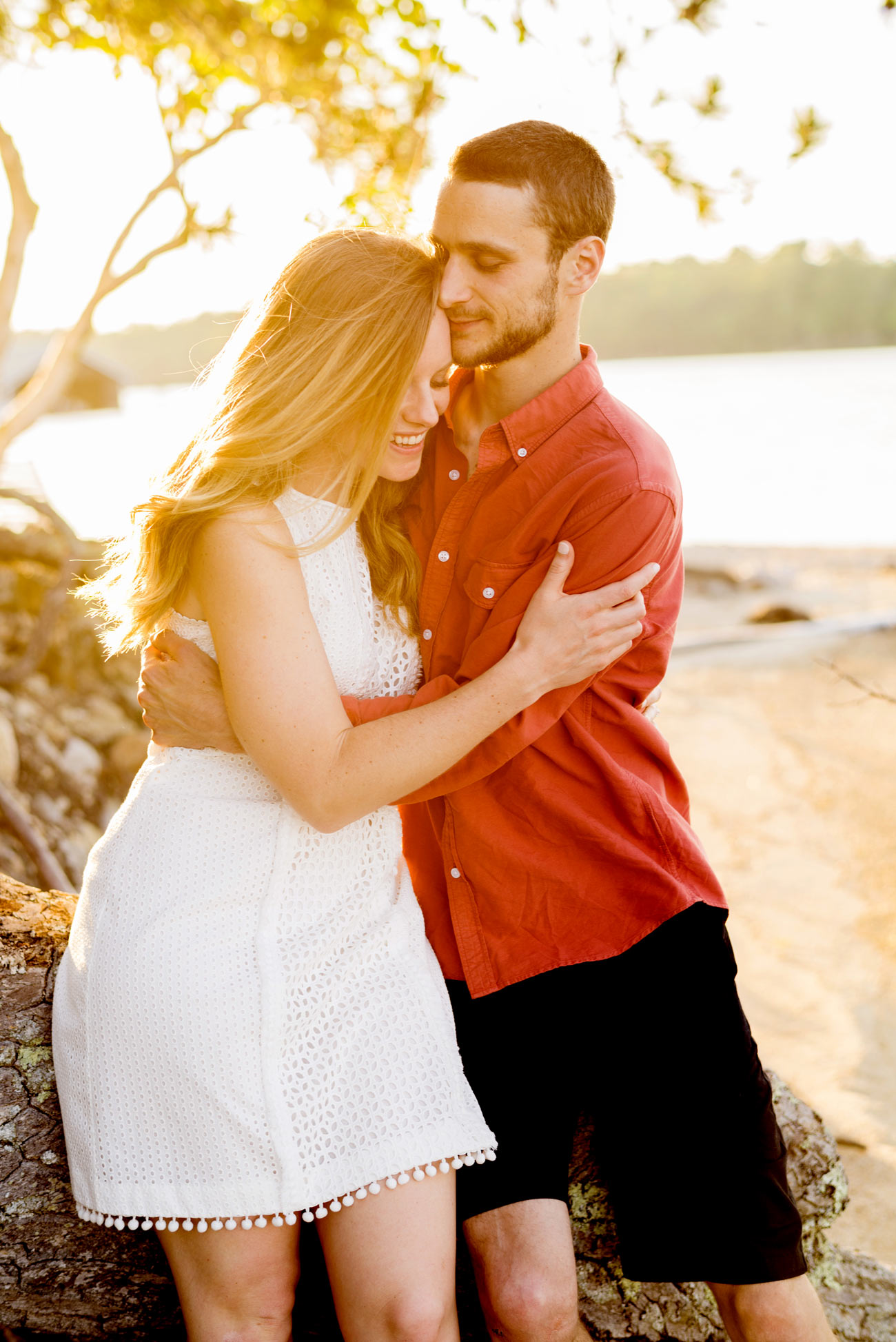 Lake winnipesaukee engagement photography engagement on a lake inspiration