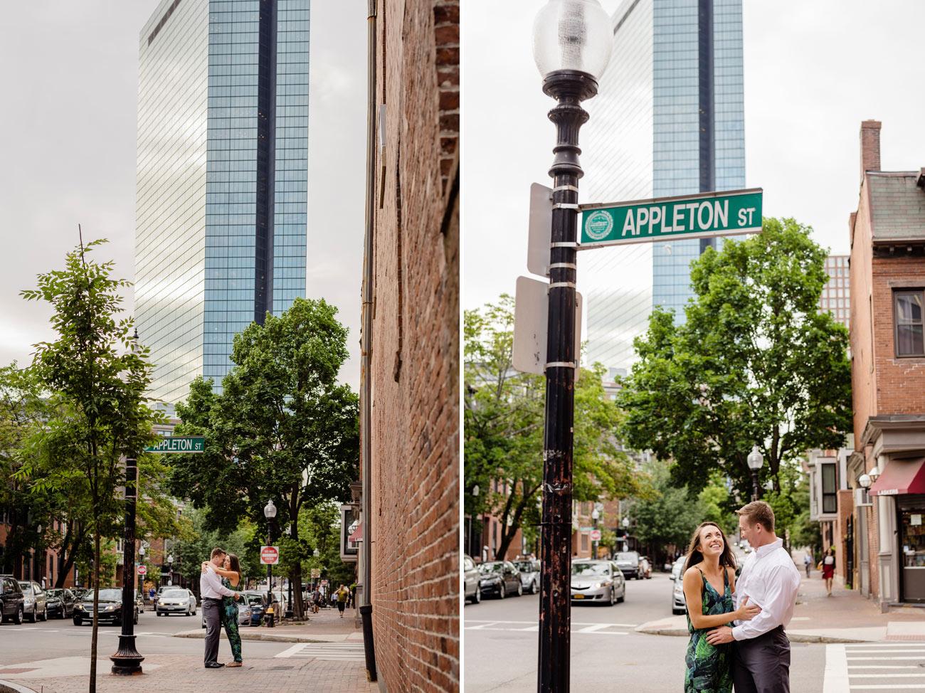 fun lifestyle boston south end engagement photos on appleton street