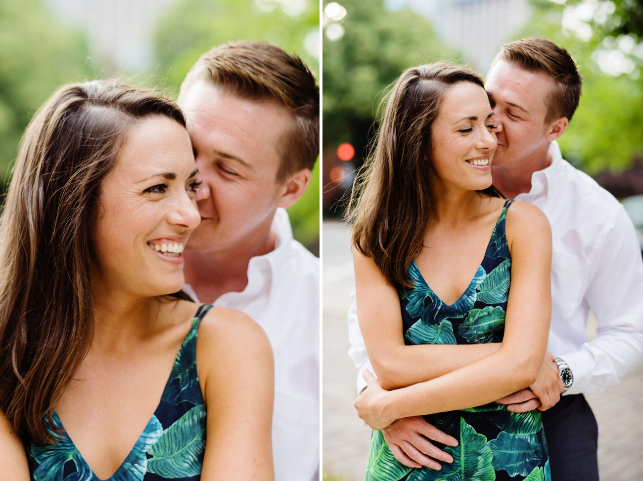lovely couple engaged in boston, happy photos lifestyle summer boston