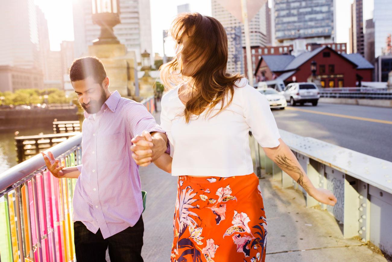couple near fidelity in boston having fun lifestyle boston photos