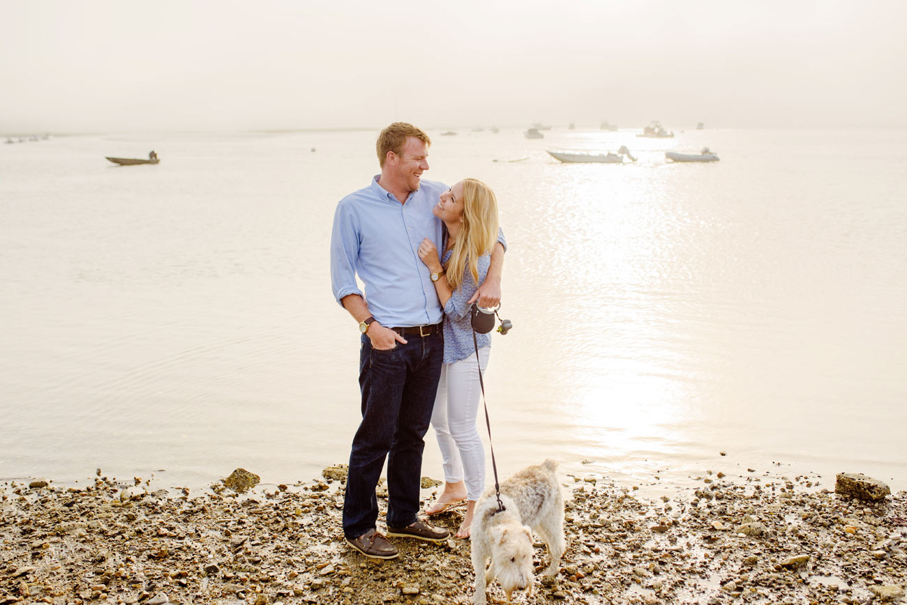 beautiful foggy new england engagement session in essex ma