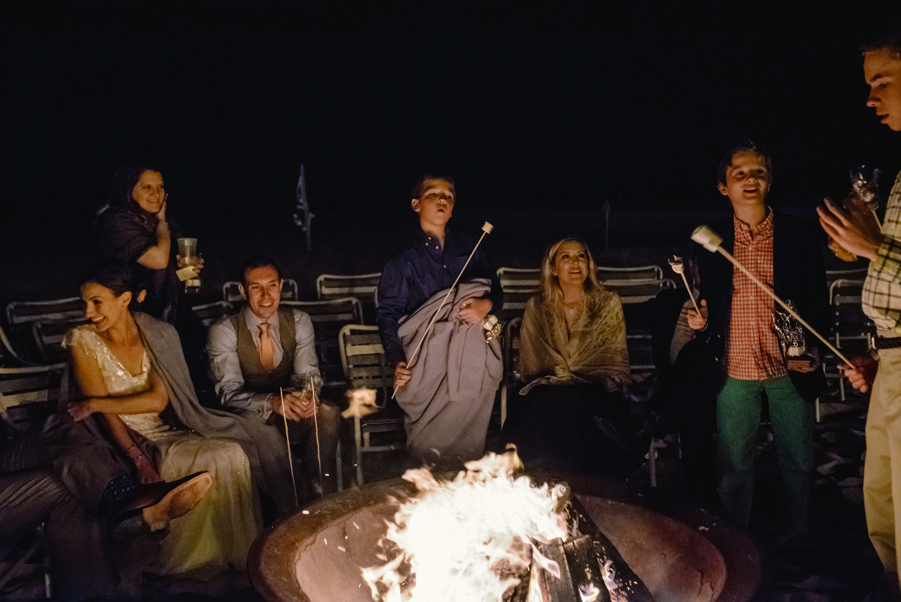 fire pit after party on the beach in the cape