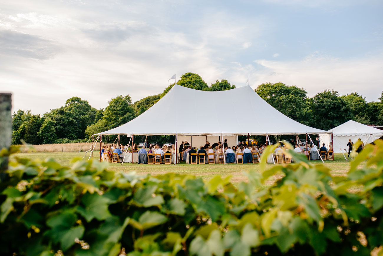 beautiful outdoor tent in bourne farm
