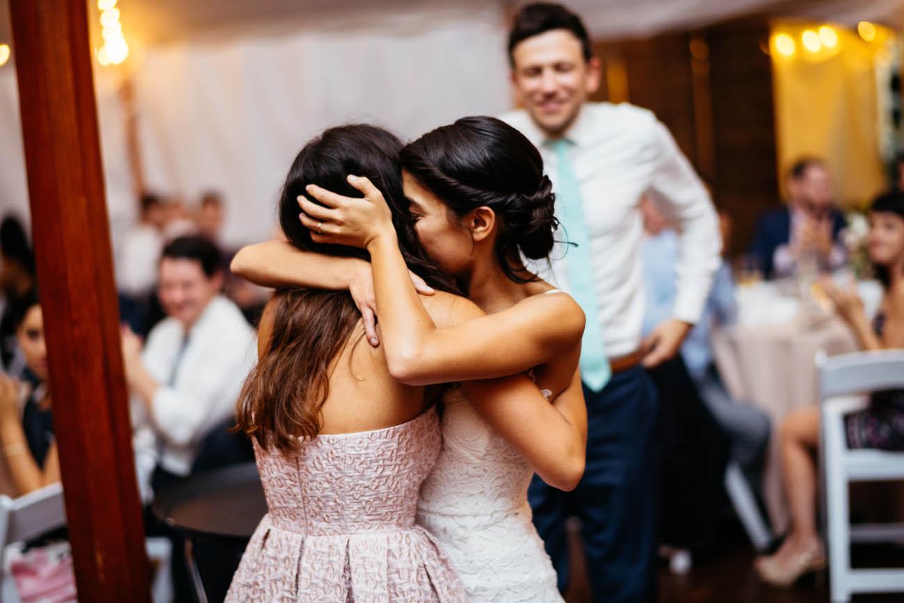 boston wedding tips, hug your friends
