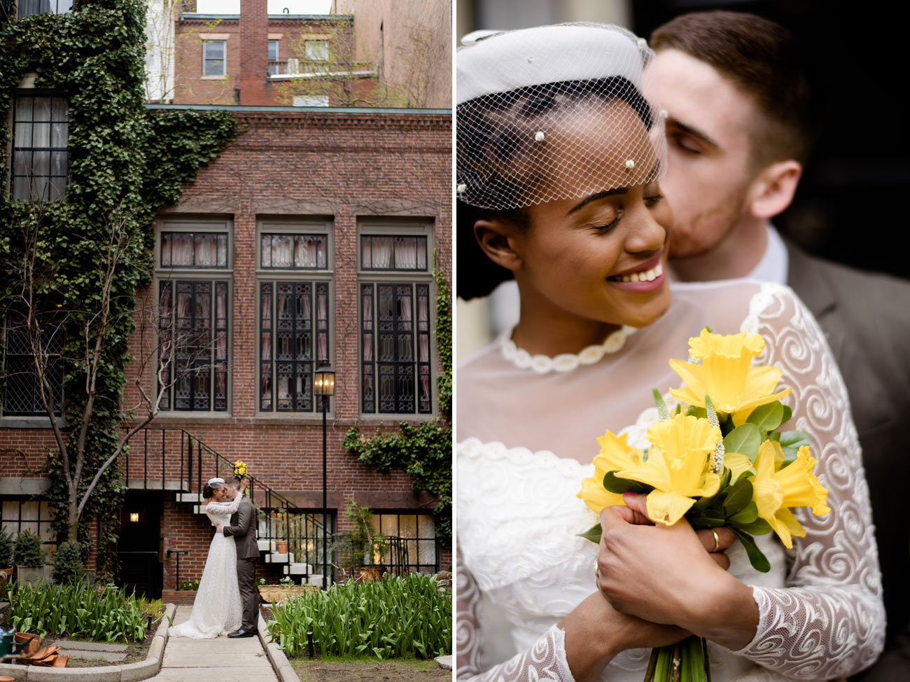 getting married in the spring in downtown boston cherry blossoms in beacon hill lovely vintage wedding
