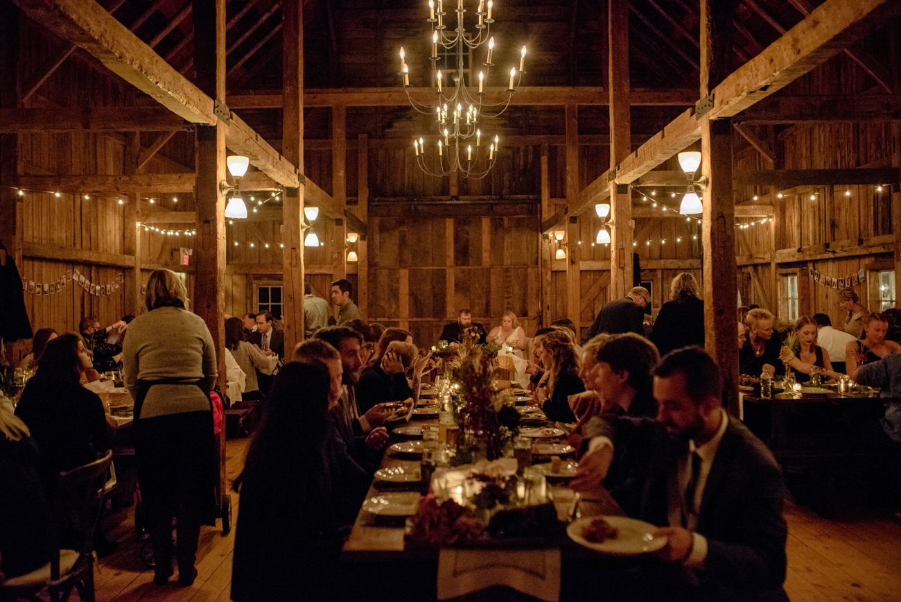 wedding feast and food ideas inside Peirce Farm at Witch Hill
