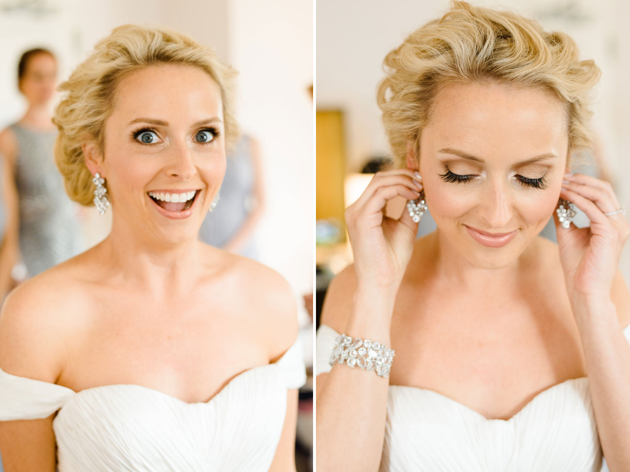 bride getting ready at the boston Park Plaza Hotel