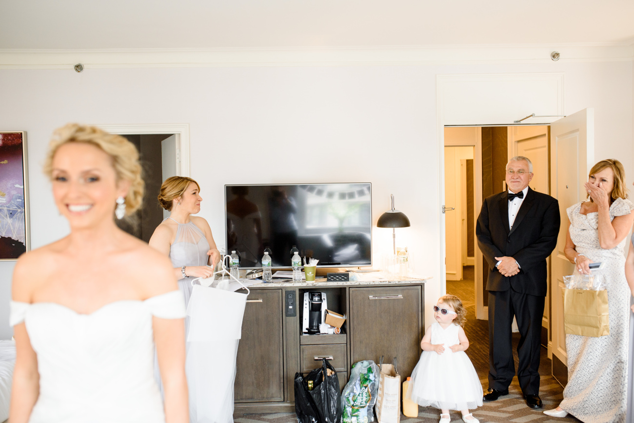 first look with dad at the Park Plaza Hotel