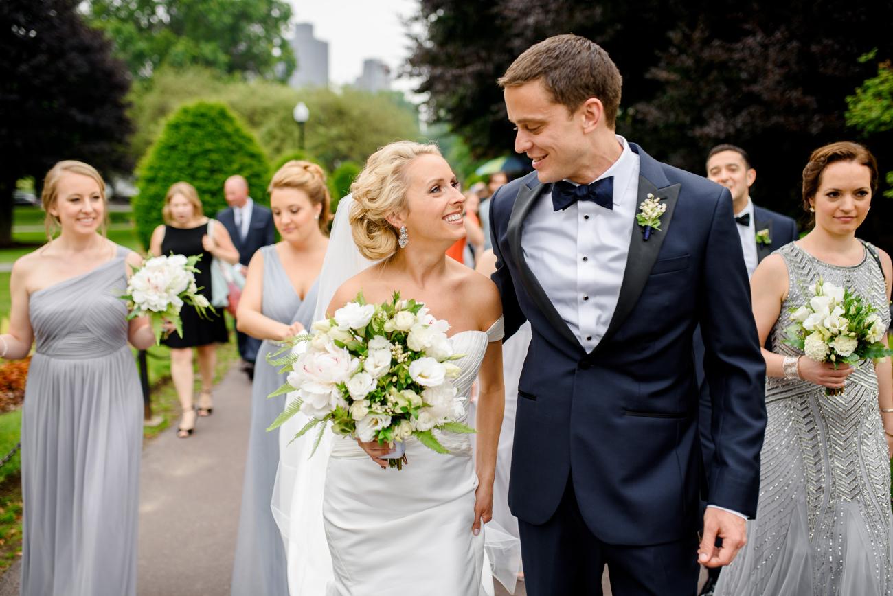 public gardens wedding photos and wedding party