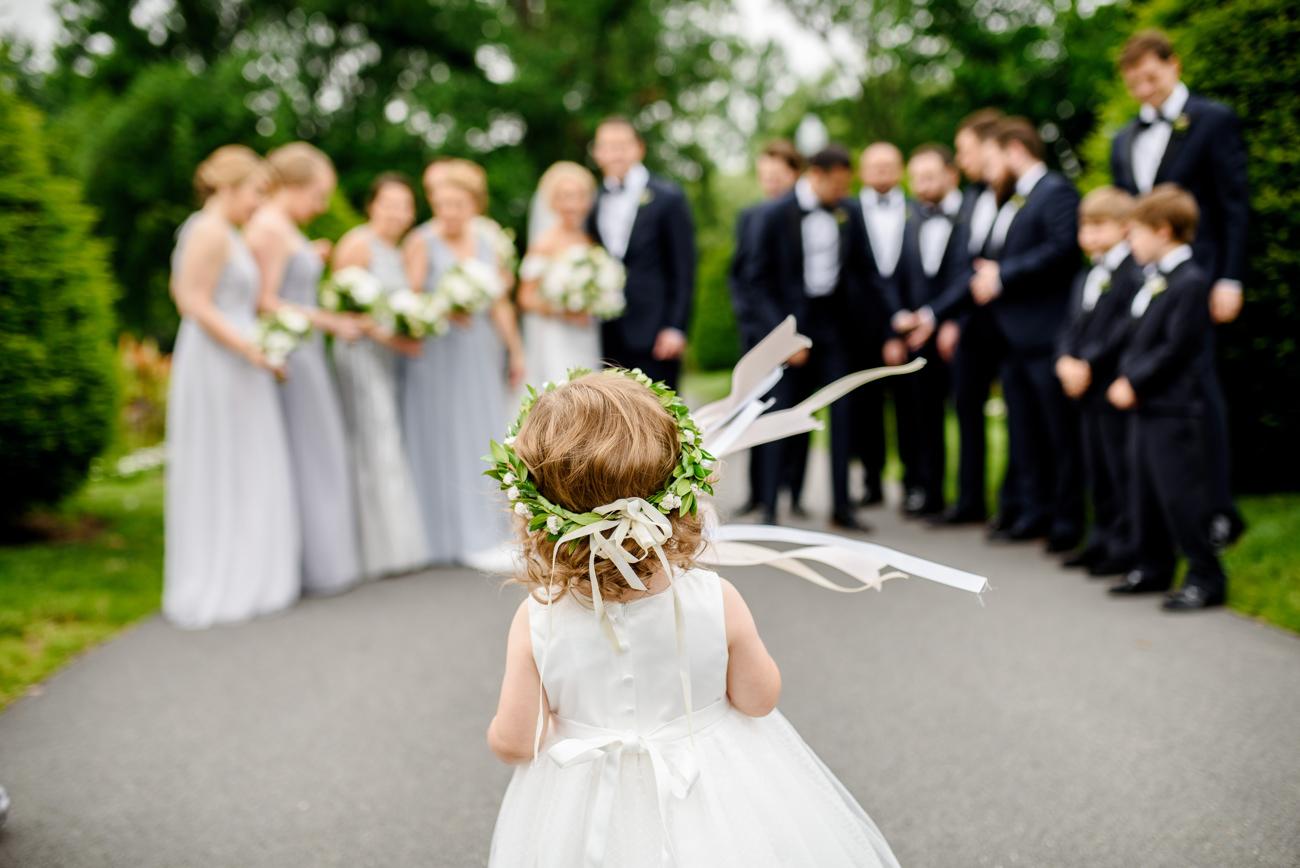 wedding party photos in the public gardens