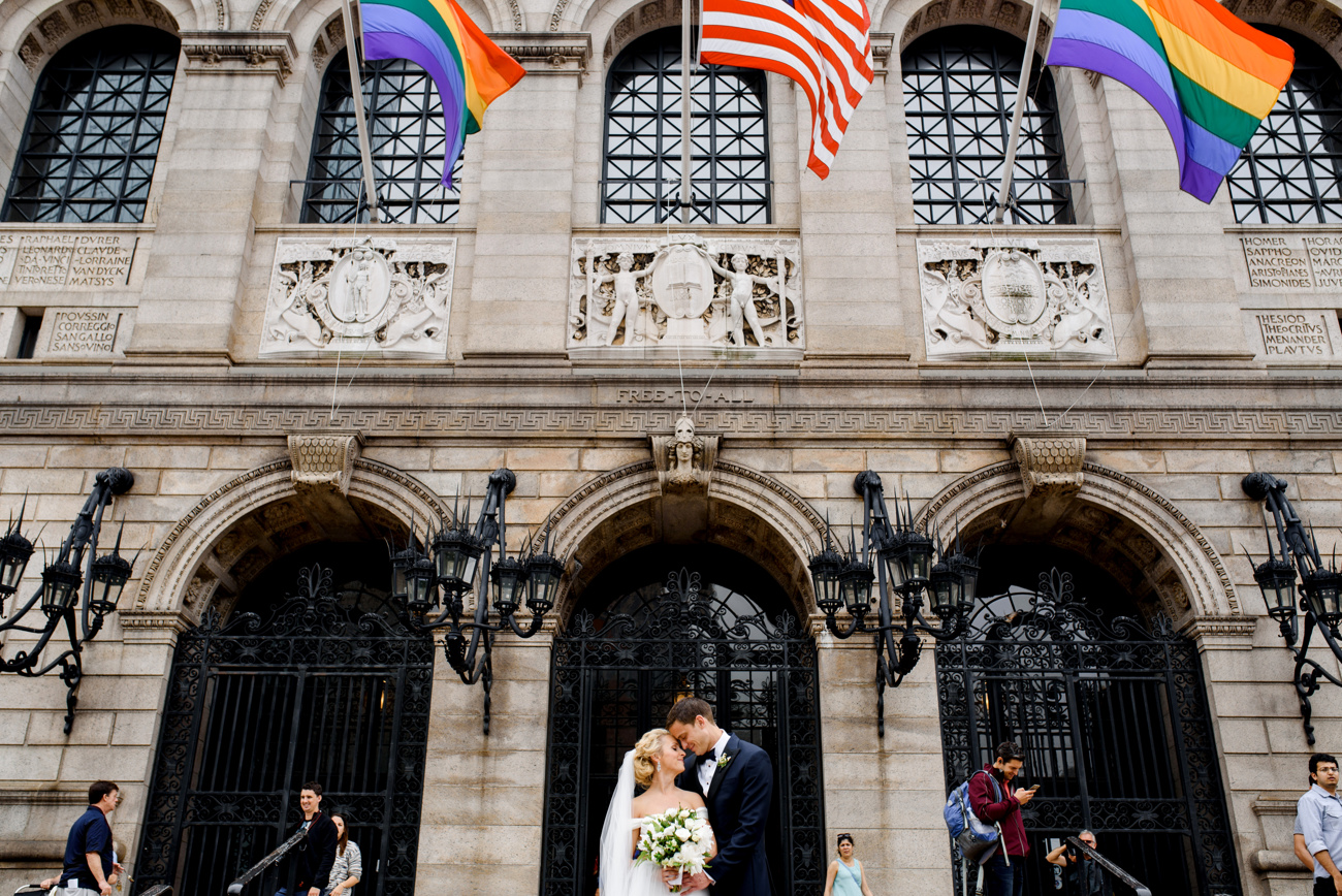wedding at the boston public library photos