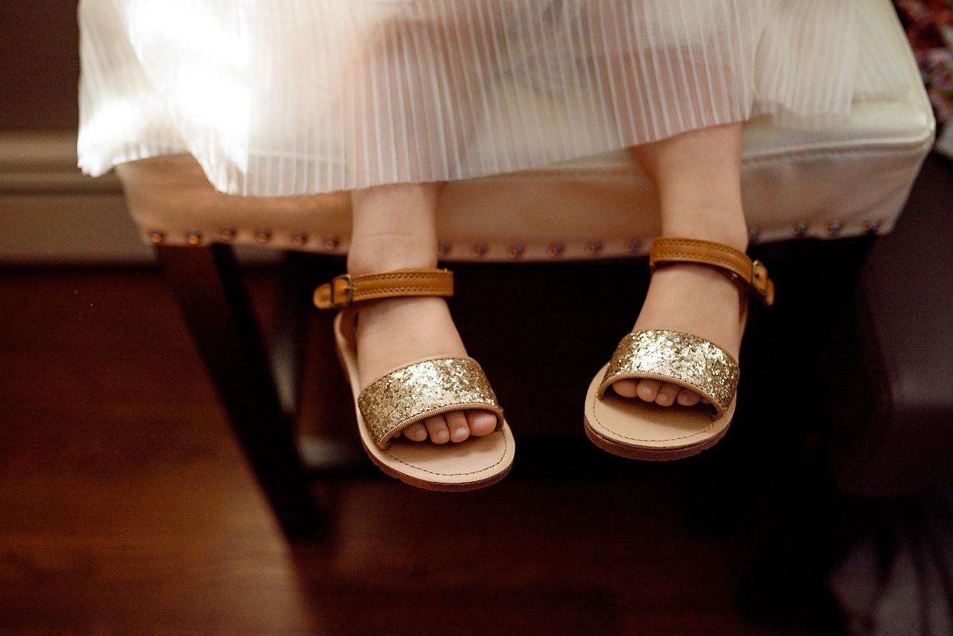 cute flower girl feet