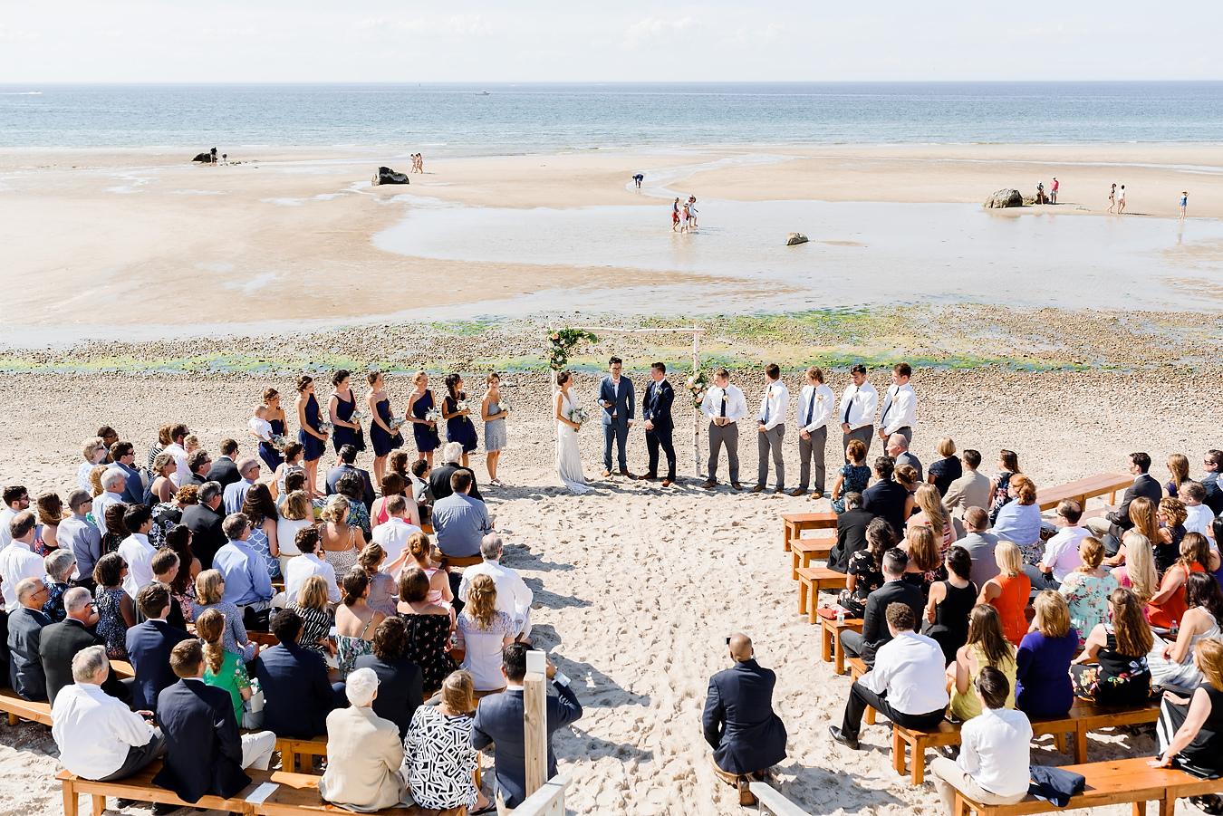 dennis beach wedding at low tide on cape cod