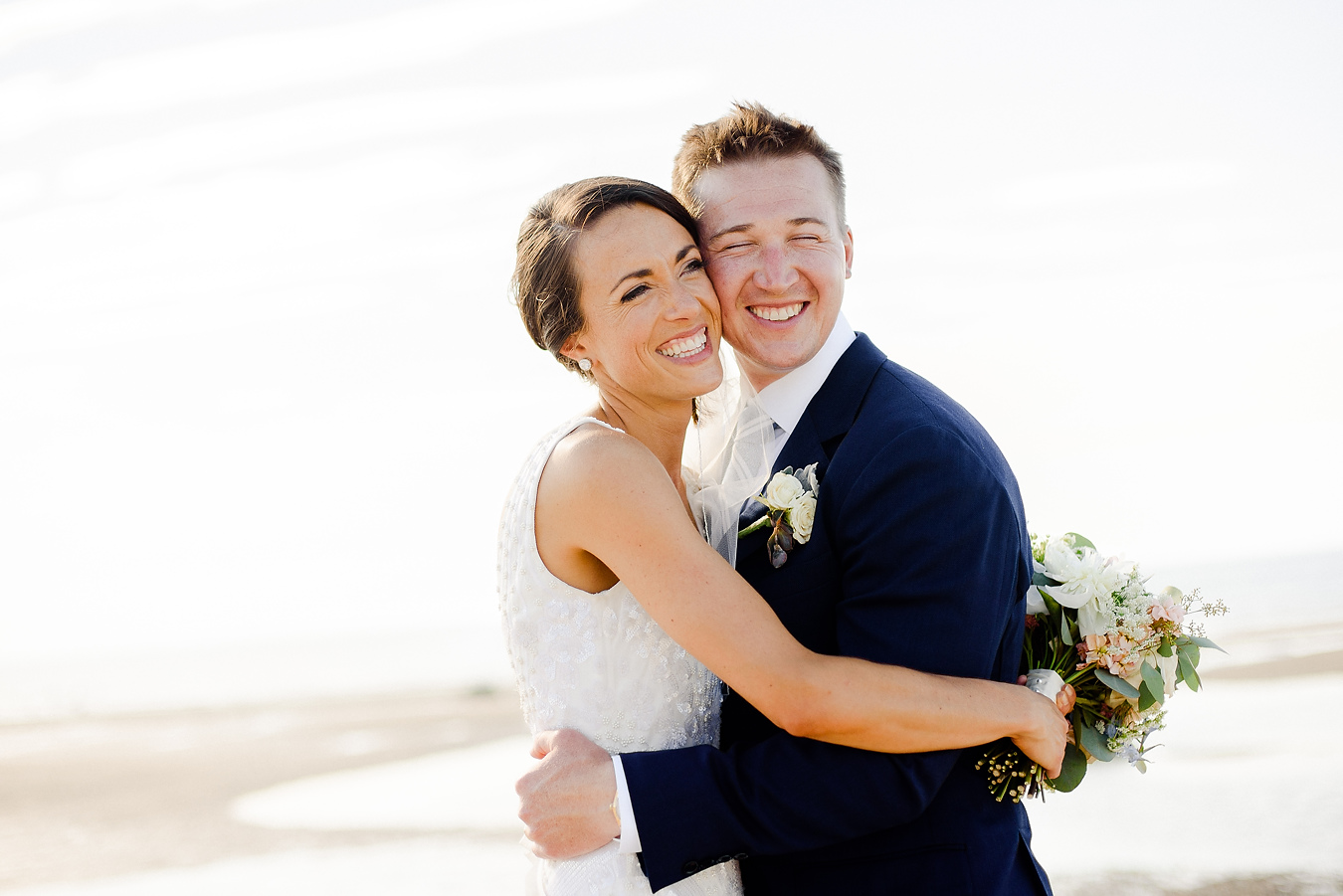 cape cod beach wedding portraits